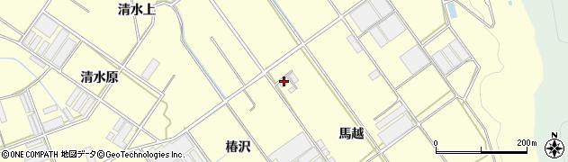 愛知県田原市八王子町(馬越)周辺の地図