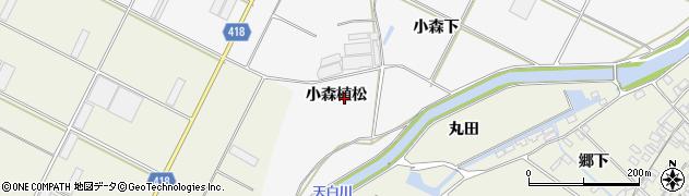 愛知県田原市小中山町(小森植松)周辺の地図