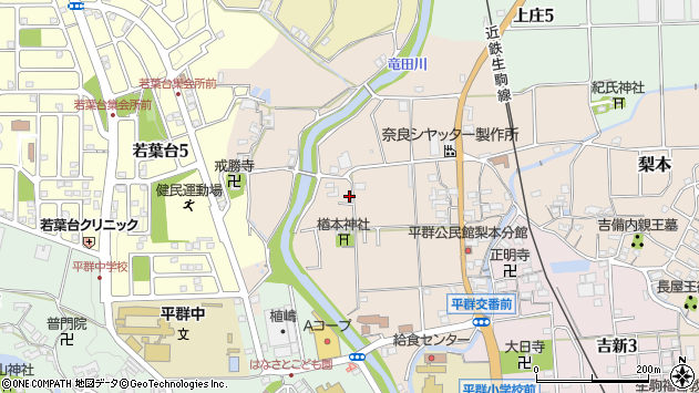 〒636-0931 奈良県生駒郡平群町梨本の地図