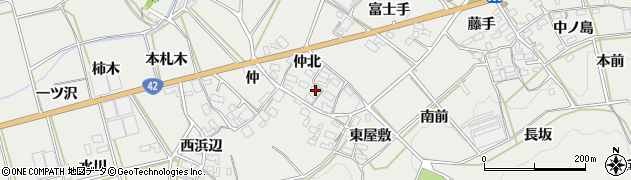 愛知県田原市南神戸町(仲北)周辺の地図