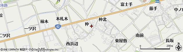 愛知県田原市南神戸町(仲)周辺の地図