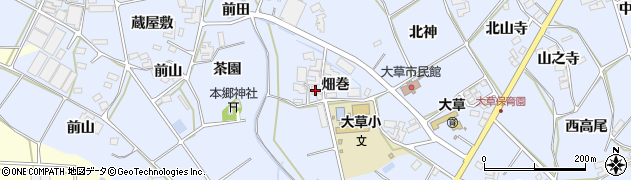 愛知県田原市大草町(畑巻)周辺の地図