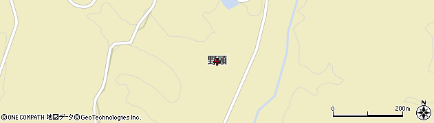 山口県萩市須佐(野頭)周辺の地図