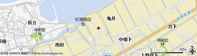 愛知県田原市高木町(亀井)周辺の地図