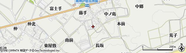 愛知県田原市南神戸町(長坂)周辺の地図