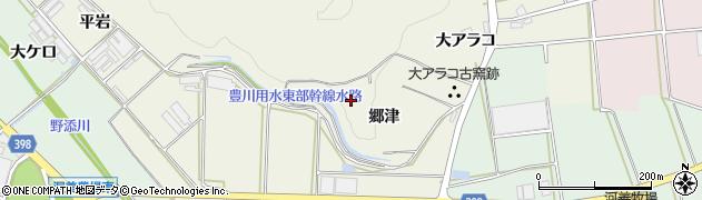 愛知県田原市芦町(郷津)周辺の地図