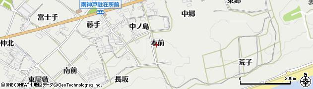 愛知県田原市南神戸町(本前)周辺の地図