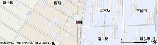 愛知県田原市福江町(蓼池)周辺の地図
