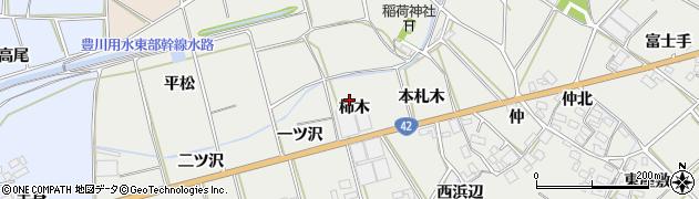 愛知県田原市南神戸町(柿木)周辺の地図
