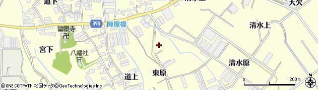 愛知県田原市八王子町(東原)周辺の地図