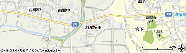 愛知県田原市村松町(おんぶ田)周辺の地図