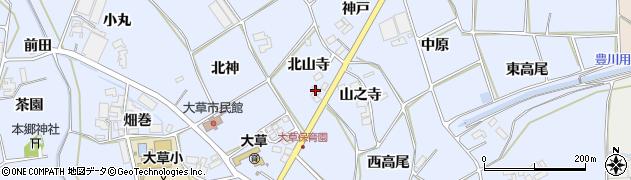 愛知県田原市大草町(北山寺)周辺の地図
