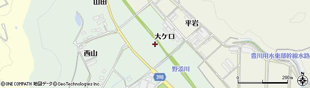 愛知県田原市赤羽根町(大ケ口)周辺の地図