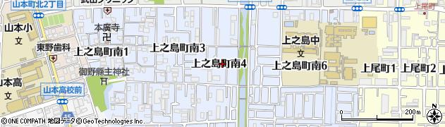 大阪府八尾市上之島町南周辺の地図