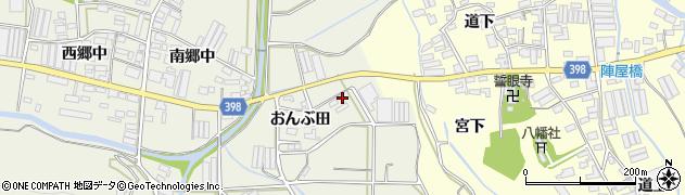愛知県田原市村松町(東原)周辺の地図