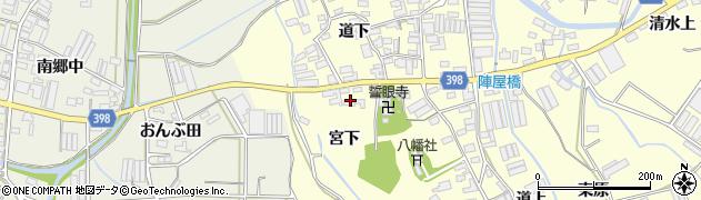 愛知県田原市八王子町(宮下)周辺の地図