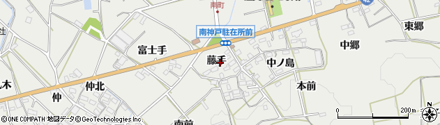 愛知県田原市南神戸町(藤手)周辺の地図