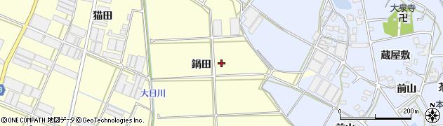 愛知県田原市高松町(鍋田)周辺の地図