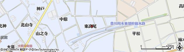愛知県田原市大草町(東高尾)周辺の地図