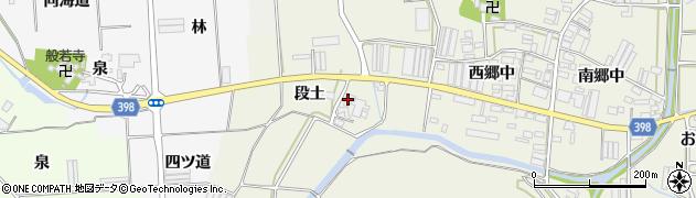 愛知県田原市村松町(段土)周辺の地図