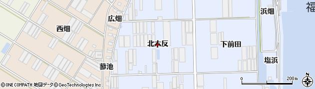 愛知県田原市向山町(北六反)周辺の地図