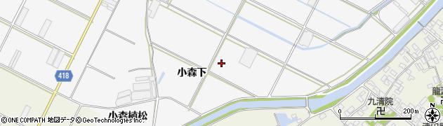 愛知県田原市小中山町(小森下)周辺の地図