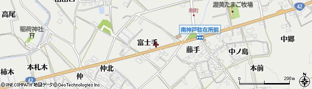 愛知県田原市南神戸町(富士手)周辺の地図