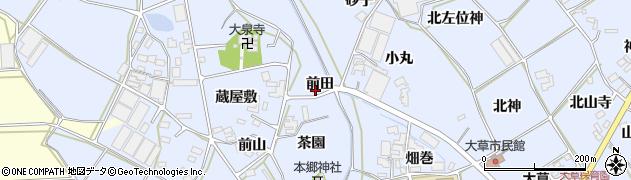 愛知県田原市大草町(前田)周辺の地図