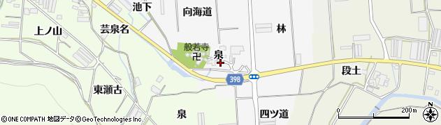 愛知県田原市伊川津町(泉)周辺の地図