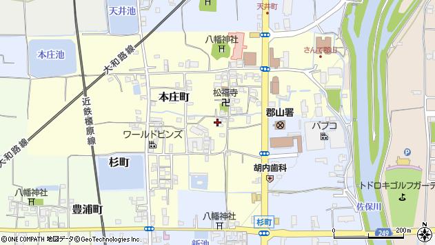 〒639-1136 奈良県大和郡山市本庄町の地図