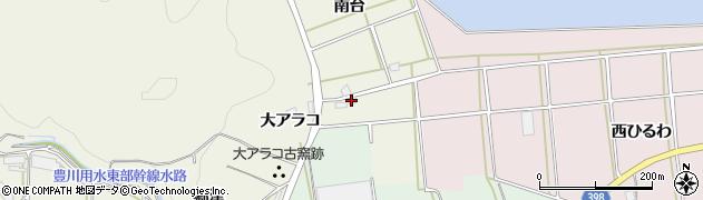愛知県田原市芦町(南台)周辺の地図