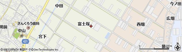 愛知県田原市中山町(富士塚)周辺の地図