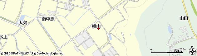 愛知県田原市八王子町(横山)周辺の地図
