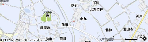 愛知県田原市大草町(小丸)周辺の地図