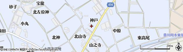 愛知県田原市大草町(神戸)周辺の地図