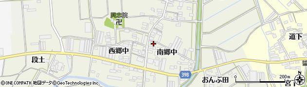 愛知県田原市村松町(南郷中)周辺の地図