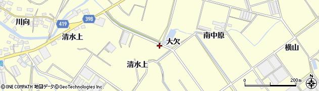 愛知県田原市八王子町(大欠)周辺の地図