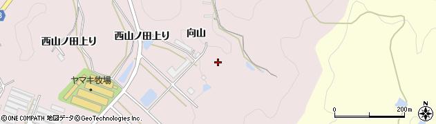 愛知県田原市野田町(向山)周辺の地図