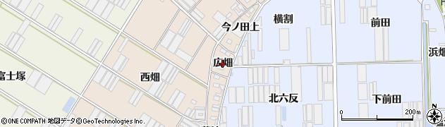 愛知県田原市福江町(広畑)周辺の地図