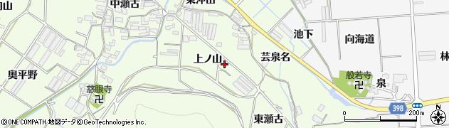 愛知県田原市石神町(上ノ山)周辺の地図