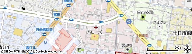 岡山県岡山市北区十日市西町周辺の地図