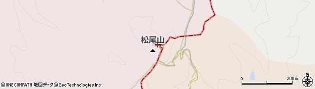 松尾山周辺の地図