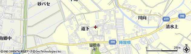愛知県田原市八王子町(道下)周辺の地図