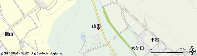 愛知県田原市赤羽根町(山田)周辺の地図