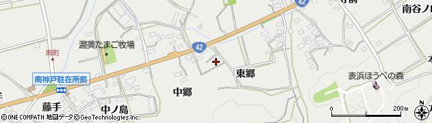 愛知県田原市南神戸町(東郷)周辺の地図