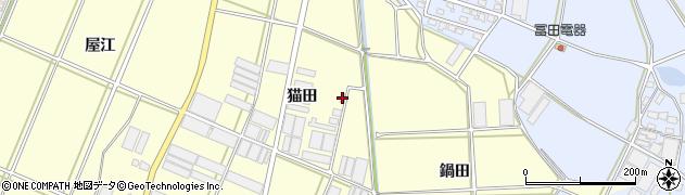 愛知県田原市高松町(猫田)周辺の地図