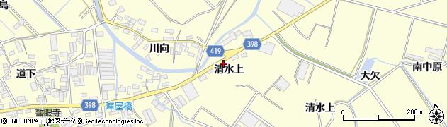 愛知県田原市八王子町(清水上)周辺の地図