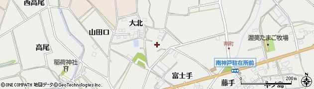 愛知県田原市南神戸町(南町)周辺の地図