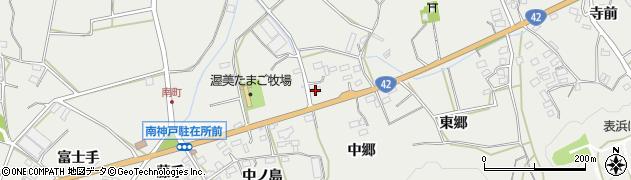 愛知県田原市南神戸町(中郷)周辺の地図