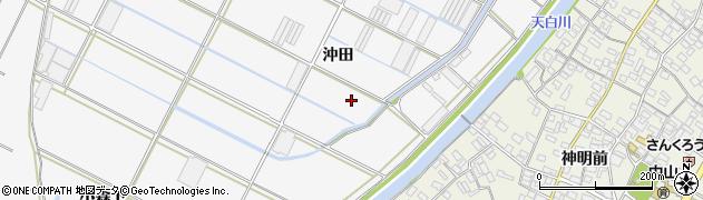 愛知県田原市小中山町(沖田)周辺の地図